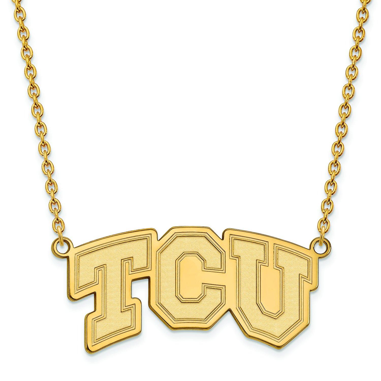 TCU Large (3 / 4インチ) ペンダントW/ネックレス(14 Kイエローゴールド)   B01J01599G