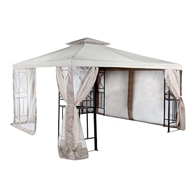 Garden Winds Replacement Canopy Top Cover for The 12x10 Crescent Gazebo - RipLock 350: Garden & Outdoor