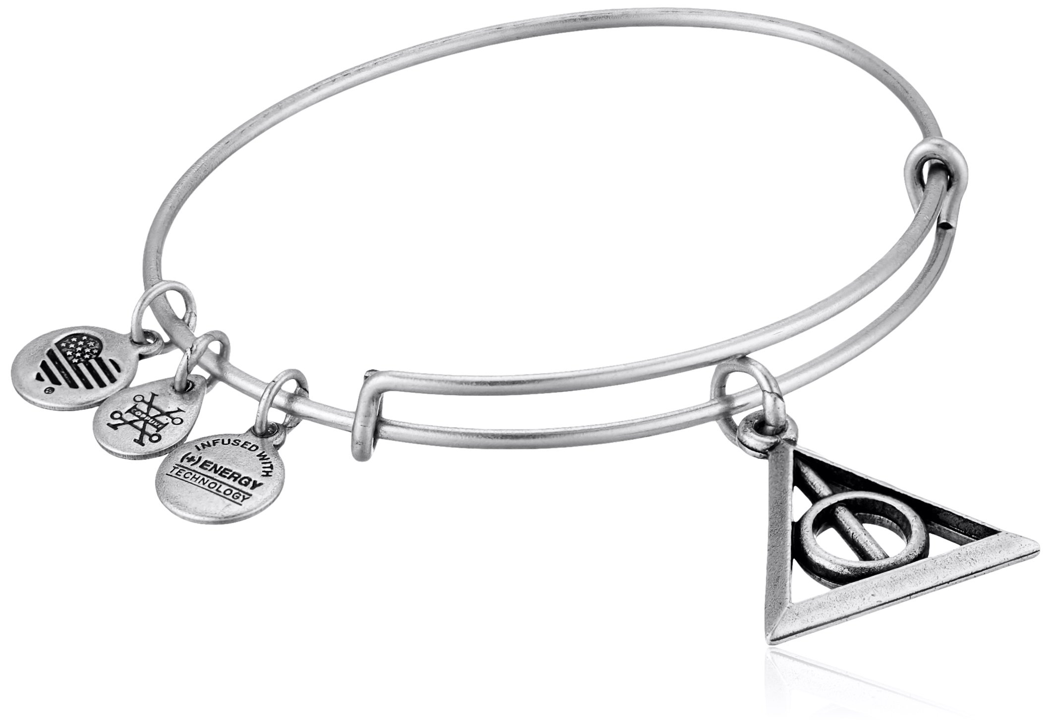 Alex and Ani Deathly Hallows EWB Rafaelian Silver Bangle Bracelet