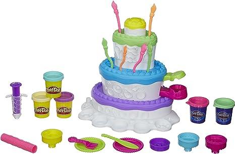 Groovy Play Doh Sweet Shoppe Cake Mountain Playset Playsets Amazon Canada Personalised Birthday Cards Veneteletsinfo