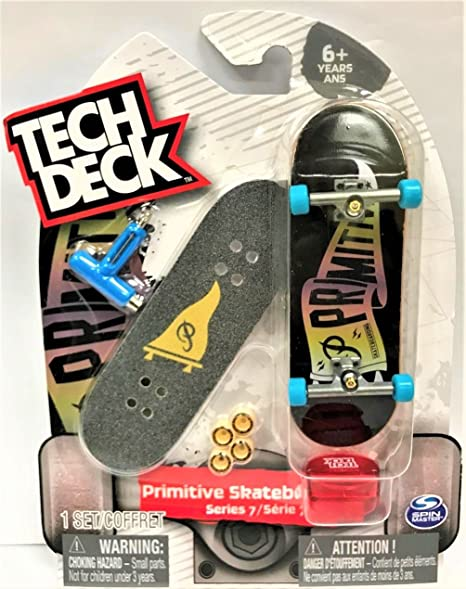 RARE Tech Deck Primitive Series 5//6 Bastien Salabanzi Skateboarding Fingerboard