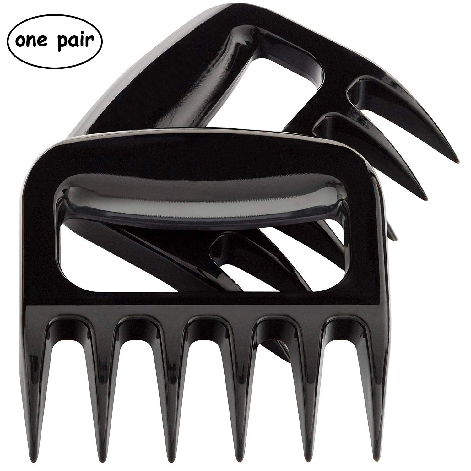 Blue Stardustt BBQ Meat Claws - Strongest BBQ Meat Forks - Shredding Handling & Carving Food - Claw Handler Set for Pulling Brisket from Grill Smoker or Slow Cooker, Two Pack,Black