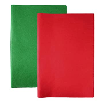 """24 SHEETS RED /& GREEN TISSUE PAPER GIFT WRAP~20/"""" x 20/"""""""