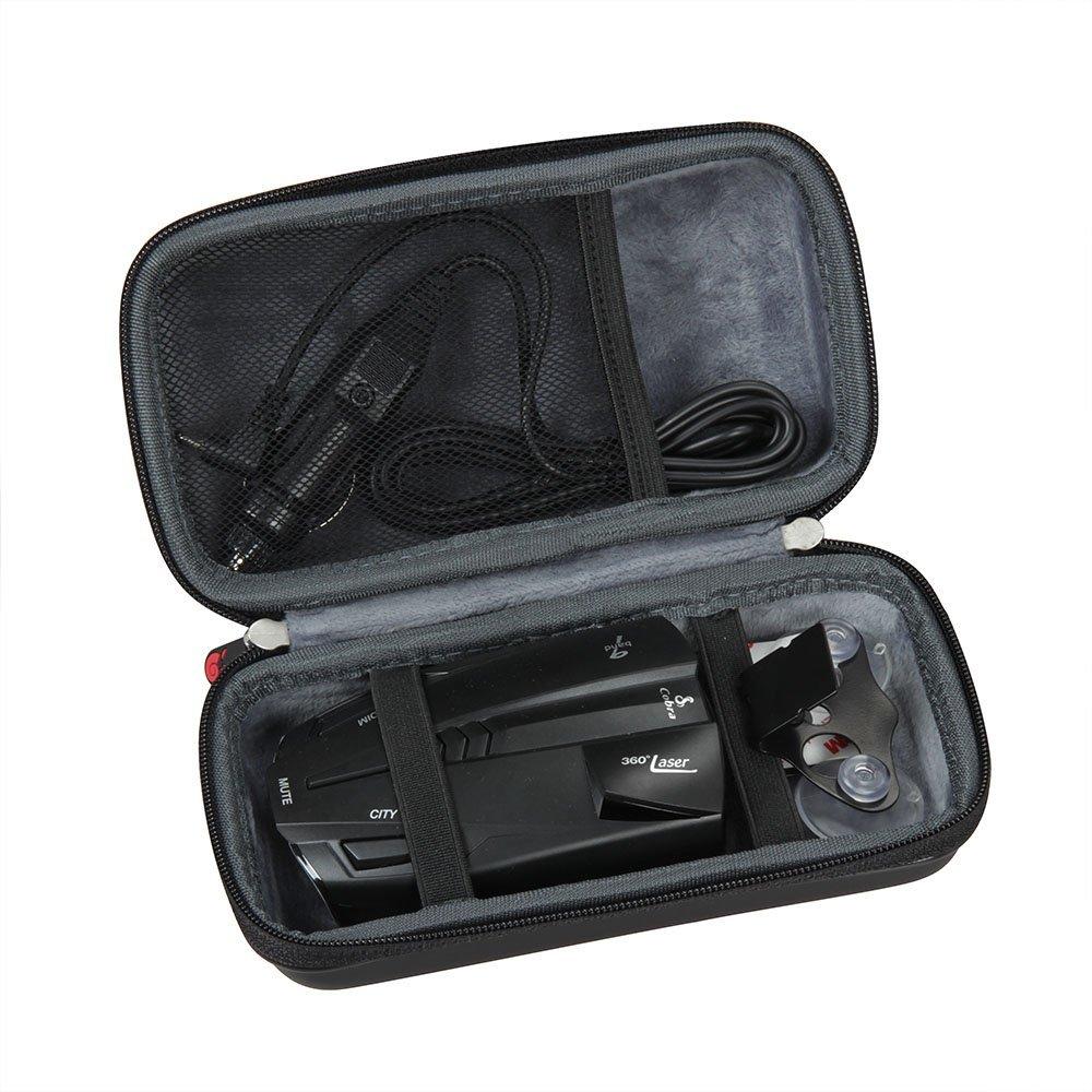 Hermitshell Cobra ESD7570 9-Band Performance Radar/Laser Detector/XRS9370 de alto rendimiento/XRS9470 Alerta de voz 14 banda duro EVA funda de viaje bolsa ...