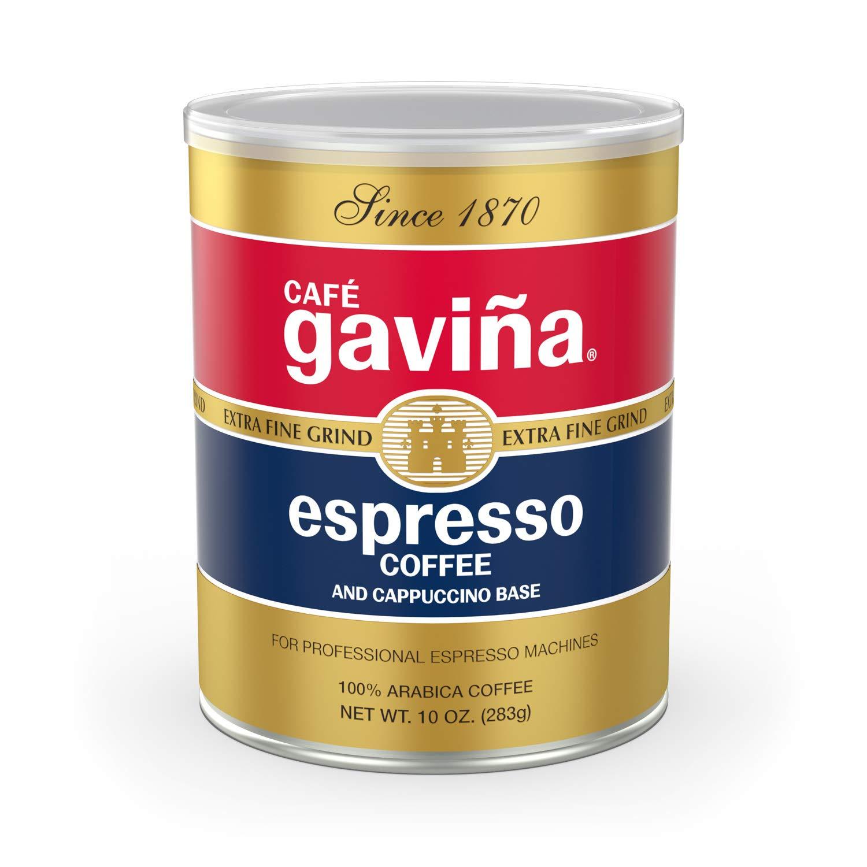 Gaviña Espresso Roast Extra Fine Ground Coffee, 100% Arabica, 10-Ounce Can