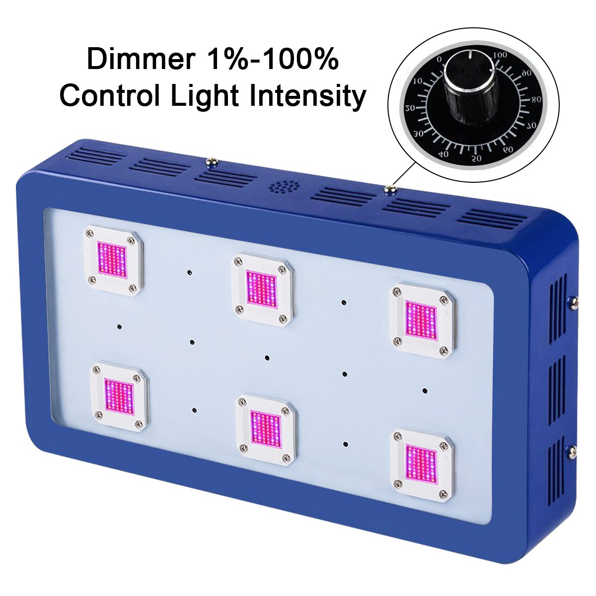 King X6 Dimmable 1800W LED Grow Light Full Spectrum Module Design COB Chips for Greenhouse and Indoor Plant Flowering Growing by KingLED