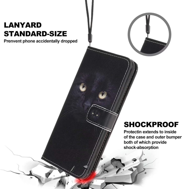 Miagon Bunt Muster Full Body H/ülle f/ür Xiaomi Redmi Note 9S,PU Leder Leder Flip Case Schutzh/ülle Tasche mit St/änder Kartenfach Magnetschnalle,Libelle