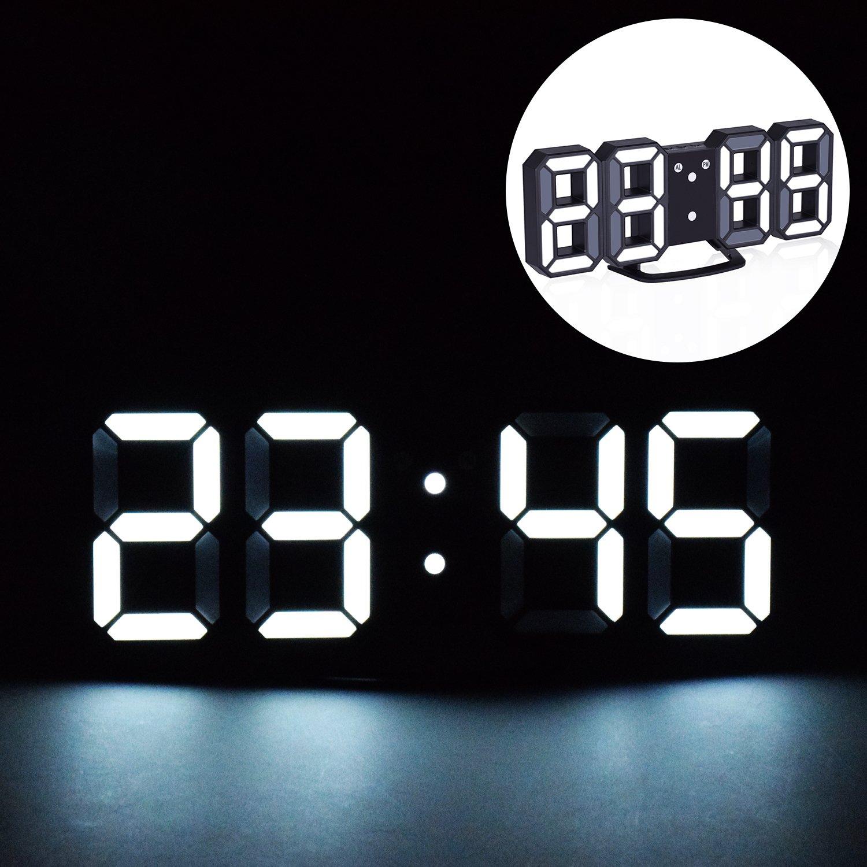 digital office wall clocks digital. EVILTO LED Digital Alarm Clock With Night Light, 3D Number Style Modern Wall /Mounted Office Clocks