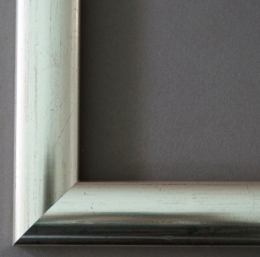 Bilderrahmen Imola Silber Rot geschliffen 3,6 - Über 14000 Größen - 42 x 120 cm - Leerrahmen ohne Glas - Maßanfertigung ohne Aufpreis