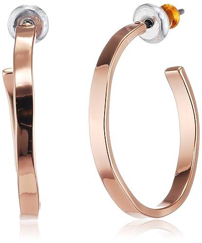 Pilgrim Women Gold Plated Hoop Earrings - 631814003 rzM0r