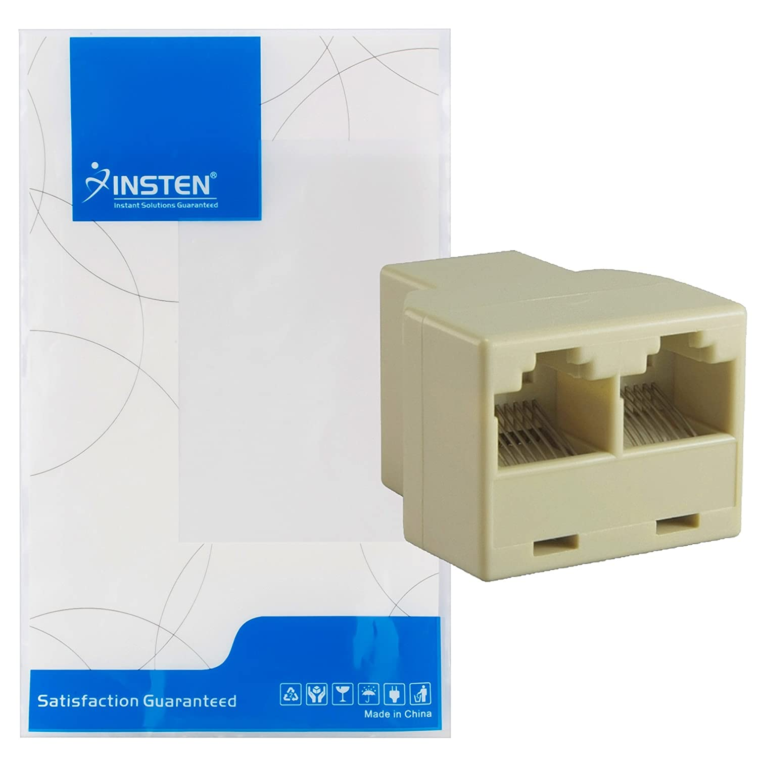 Insten Rj45 Cat 5 6 Lan Ethernet Splitter Connector Home Work Wiring Diagram For Ether In Addition Wall Jack Adapter Pc Audio Theater