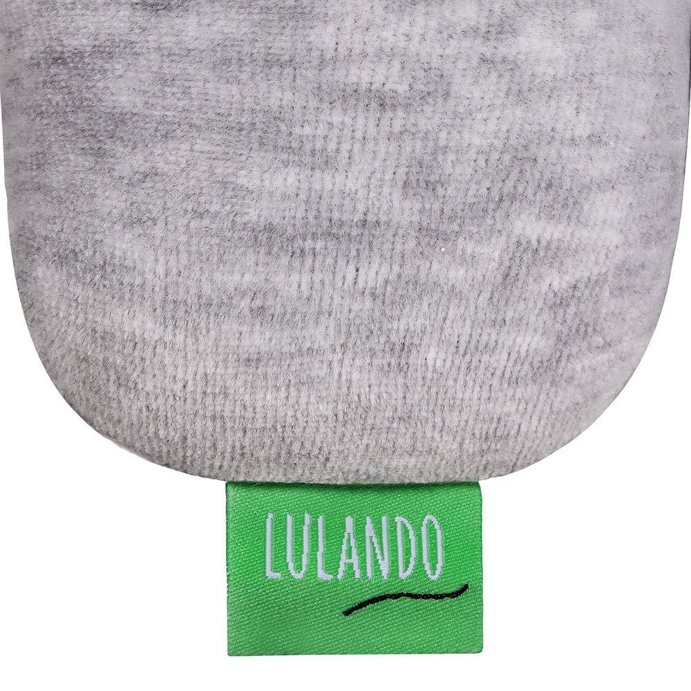Gray Lulando Cot Bumper Braid Braid Welur 200 cm