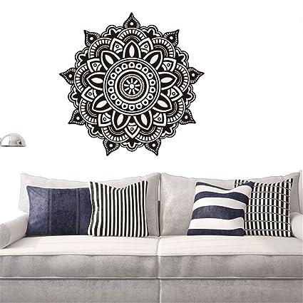 gossipboy DIY pared vinilo adhesivo negro - Mantra Mandala flores ...
