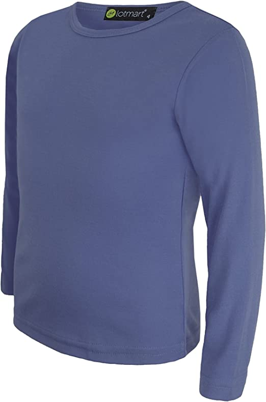 Boys Girls Kids T-Shirts Plain Soft Cotton Round Neck T-Shirt PE School Uniform