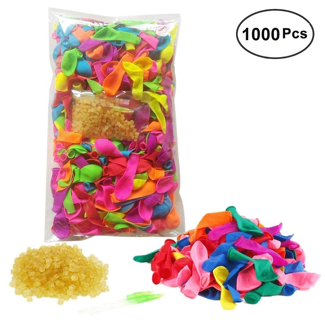 PeleusTech® 1000 PCS Water Balloons Latex Water Bomb Balloons with Refill Kit and Rubber Bands for Kids Adults