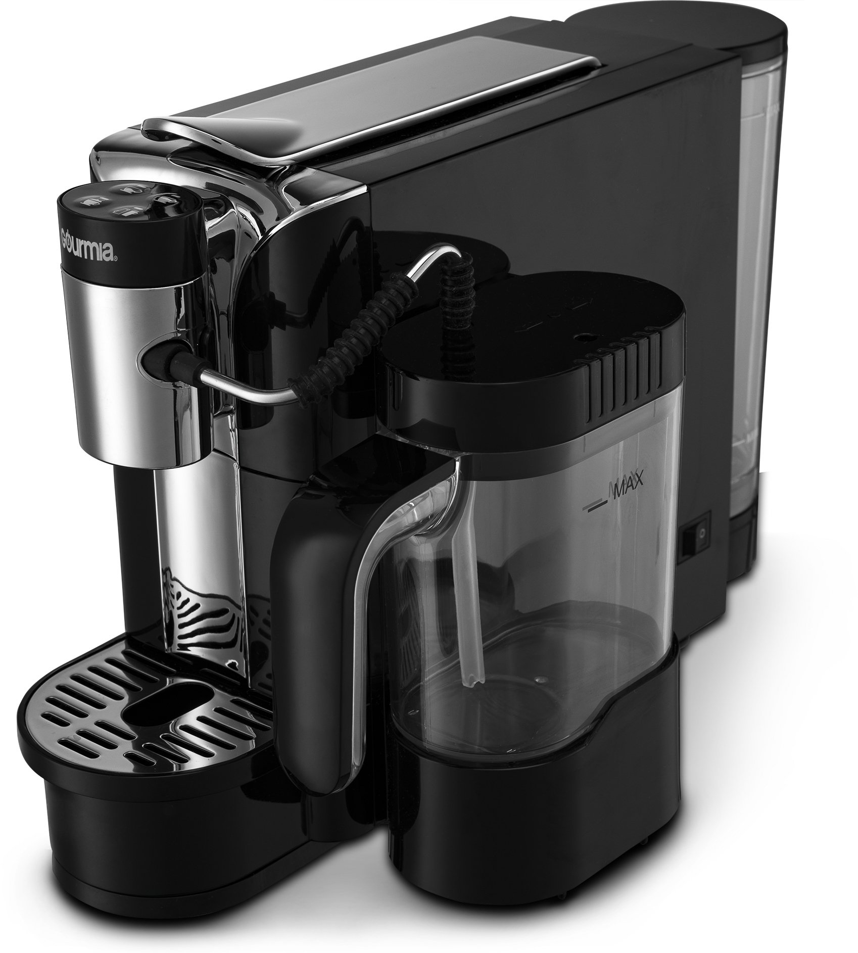 Gourmia GCM5500 - One Touch Automatic Espresso Cappuccino & Latte Maker Coffee Machine - Brew, Froth Milk, and Mix Into Cup with the Push of One Button- Nespresso Compatible by Gourmia (Image #3)