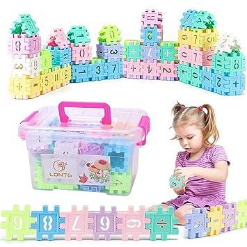 e26986174ba81 ITODA Jeux de Construction en Plastique Bloc de Construction Numérique Gros  Jeu Educatif Créatif Coloré Jouets