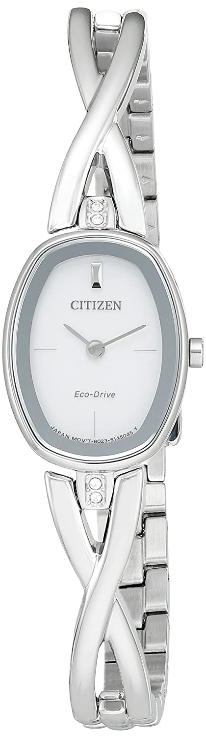 Citizen Women's Eco-Drive Stainless Steel Silhouette Bangle Watch EX1410-53A Citizen Watch Company