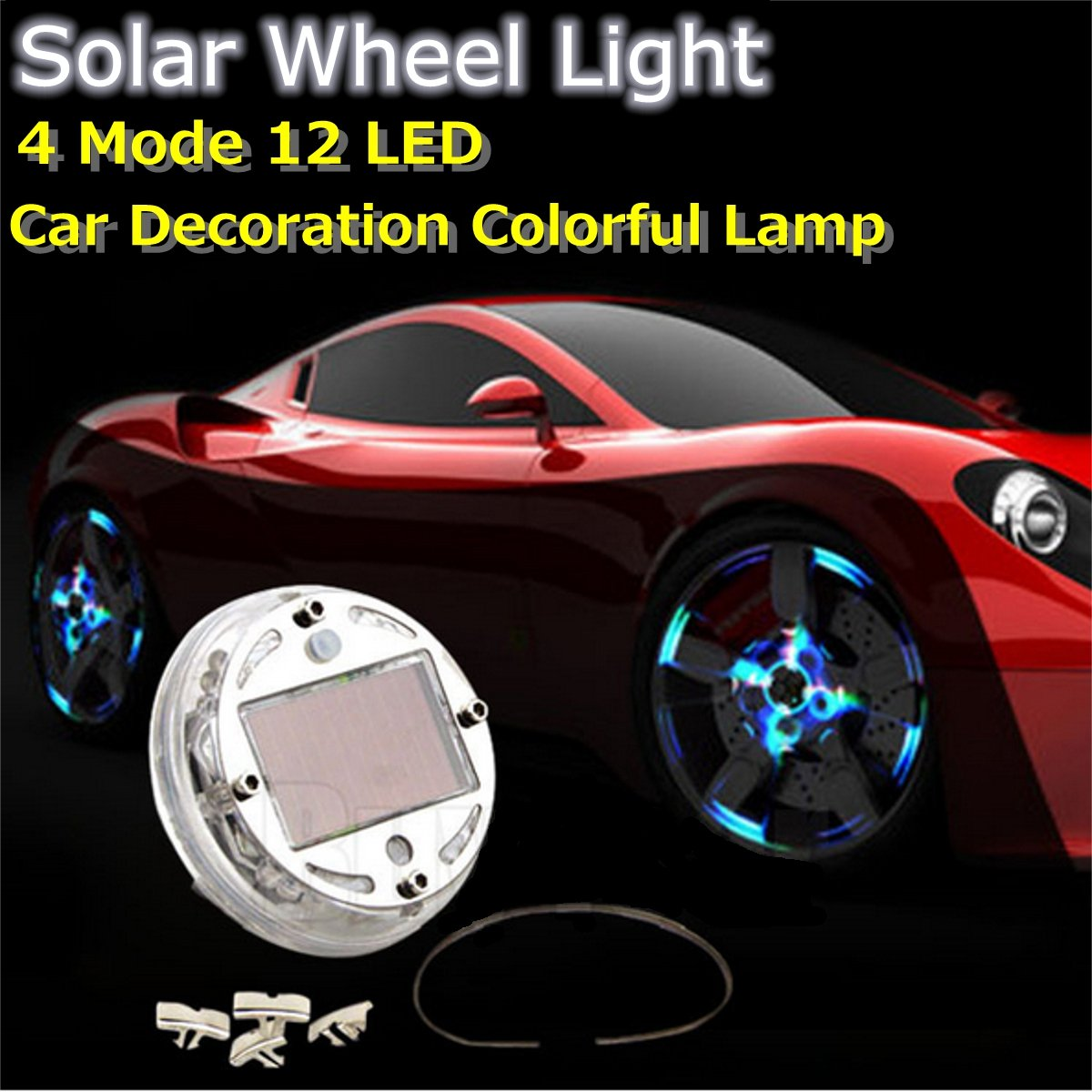 Car Light Decoration Amazoncom Audew 1pcs Car Auto 4 Colours 12 Led Solar Energy