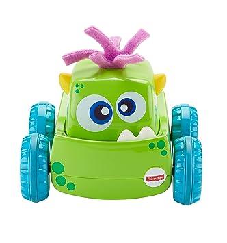 Fisher-Price Coche Monstruito verde, juguete gateo, bebé +9 meses ...