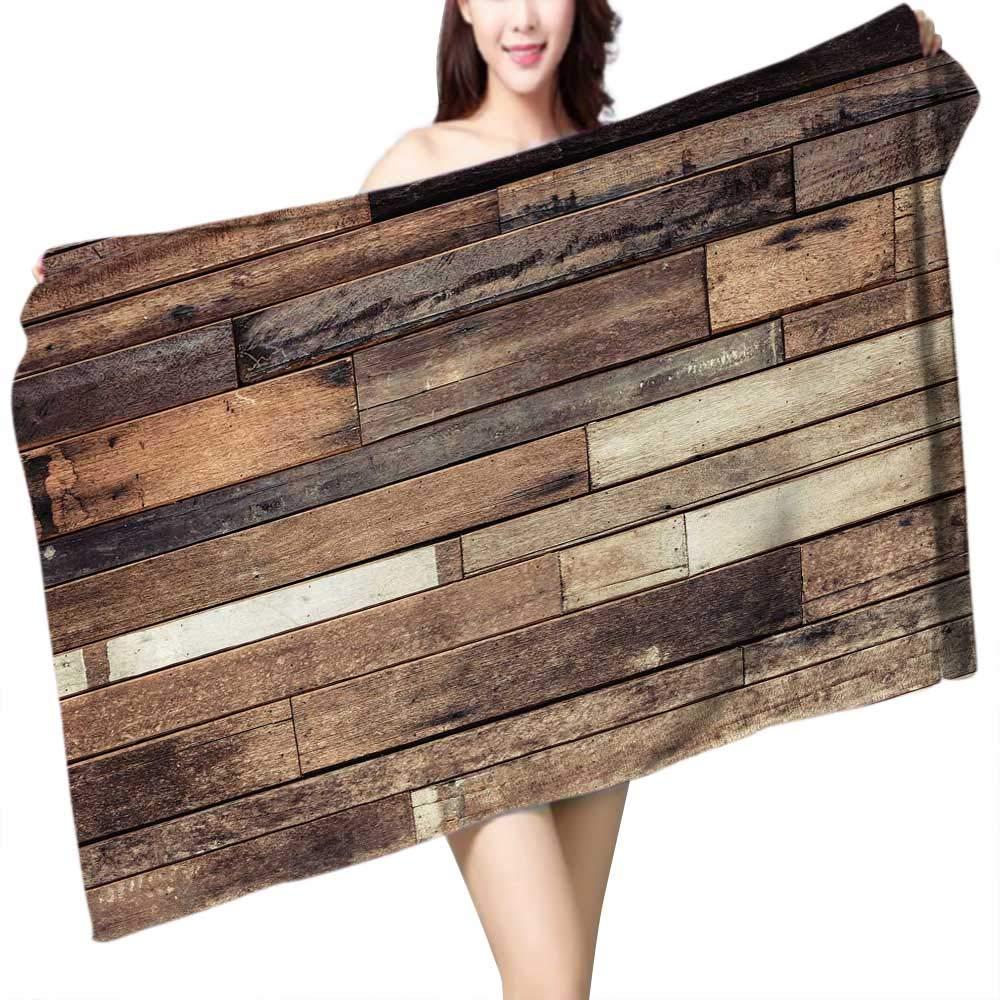 UHOO2018 Baby Bath Towel Old Wood Plank Print Wrap Towels W 10'' x L 39.5'' by UHOO2018 (Image #1)