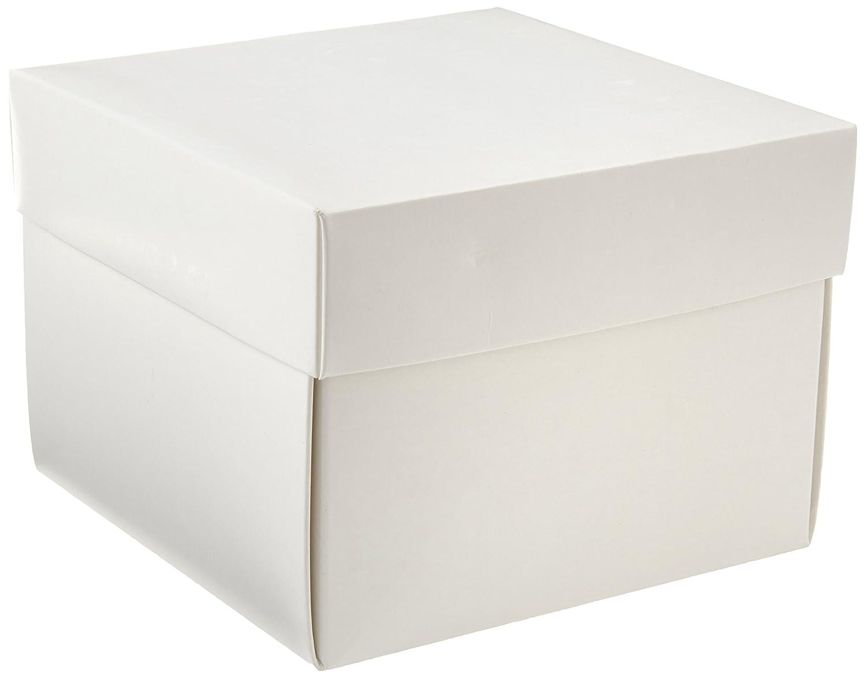 Neolab 2 –  2902 kryo della scatola con coperchio in cartoncino, 100 mm, colore bianco 100mm 2-2902