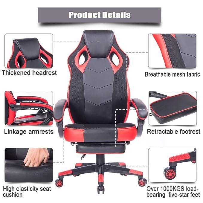 Amazon.com: healgen WB-9013 silla para videojuegos con ...
