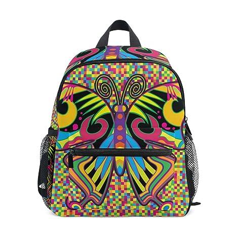 COOSUN Mariposa de color en el jardín infantil Hippie, tipo Mini Mochila Kids Pre-