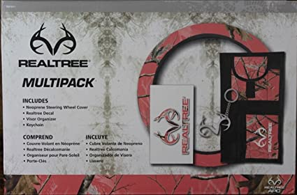 Amazon.com: Realtree Multi Pack - Coral 4 Piece Set: Automotive