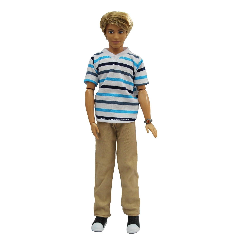ZITA ELEMENT Lot 3 PCS Fashion Short Shirt Casual Wear Clothes//Outfit for 11.5 inch Boy Friend Ken Doll