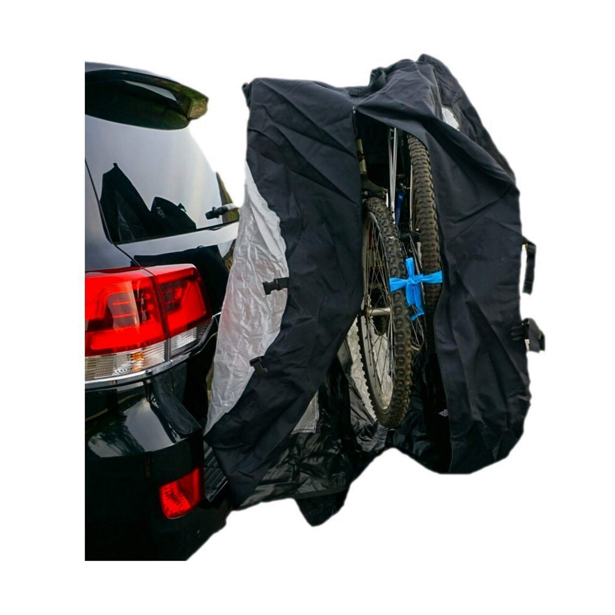 Formosa Covers Bike Cover for Car, Truck, RV, SUV Transport on Rack - Protection While You Roadtrip or Perfect for Home Storage, Reflectors (Dual (2 Bikes)) by Formosa Covers