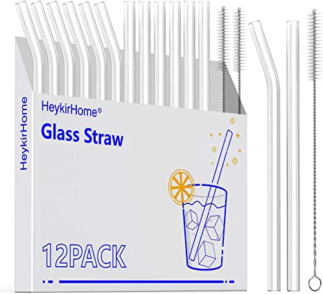 Brush Box Color Reusable Glass Straw Wedding Drink Straws Cloth Transparent