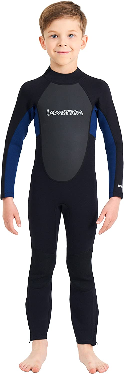 Lemorecn Kids Wetsuits Youth 3 mm Full Diving Suit