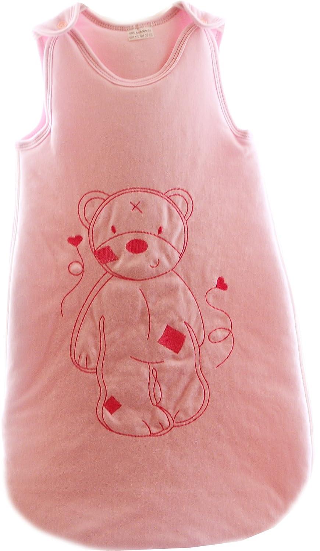- Saco de dormir para bebé cremallera - Saco de dormir para bebé sin mangas bordado oso (61 cm, color rosa): Amazon.es: Bebé