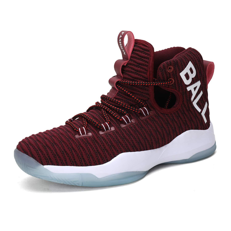 Zapatillas de Baloncesto para Hombre Altas Zapatillas de Deporte al Aire Libre Zapatos para Correr Gimnasio Respirables Azul Rojo Gris 38-46