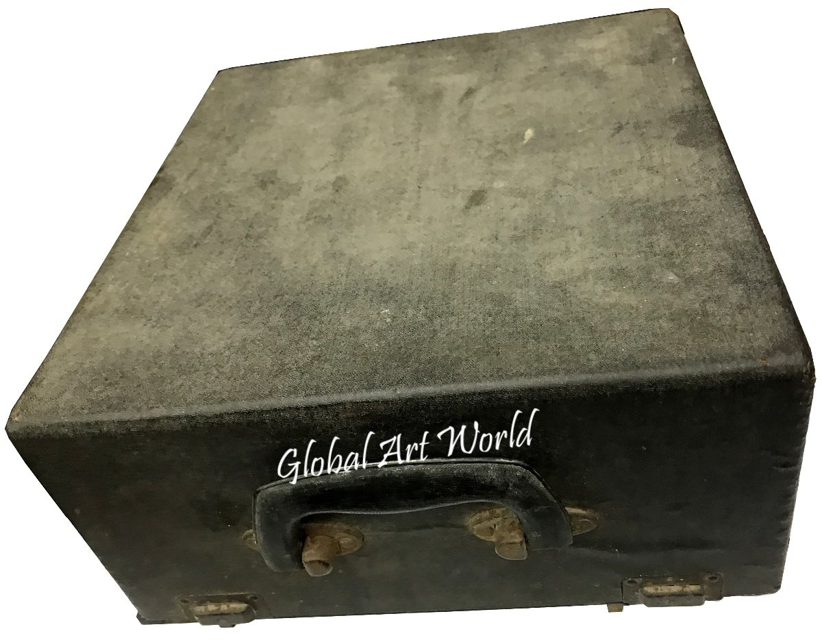 Antiques World Vintage Old Original Working Typewriter - Hermes 2000 - Dark Grey - Swiss Typewriter - Fully Serviced And Portable AWUSAHB 0252