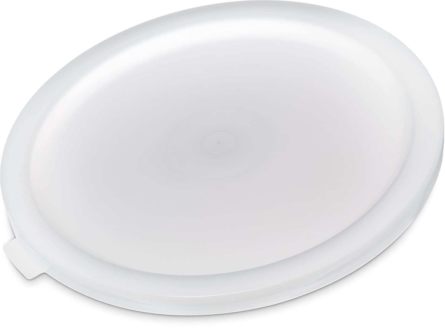 Carlisle 120202 BPA-Free Lid for Bains Marie Round Storage Container, 12-18-22 Quart, White