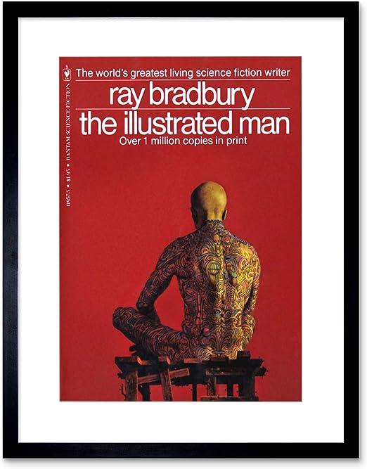 Book Cover 1951 Ray Bradbury Illustrated Man Science Fiction Writer Framed Print