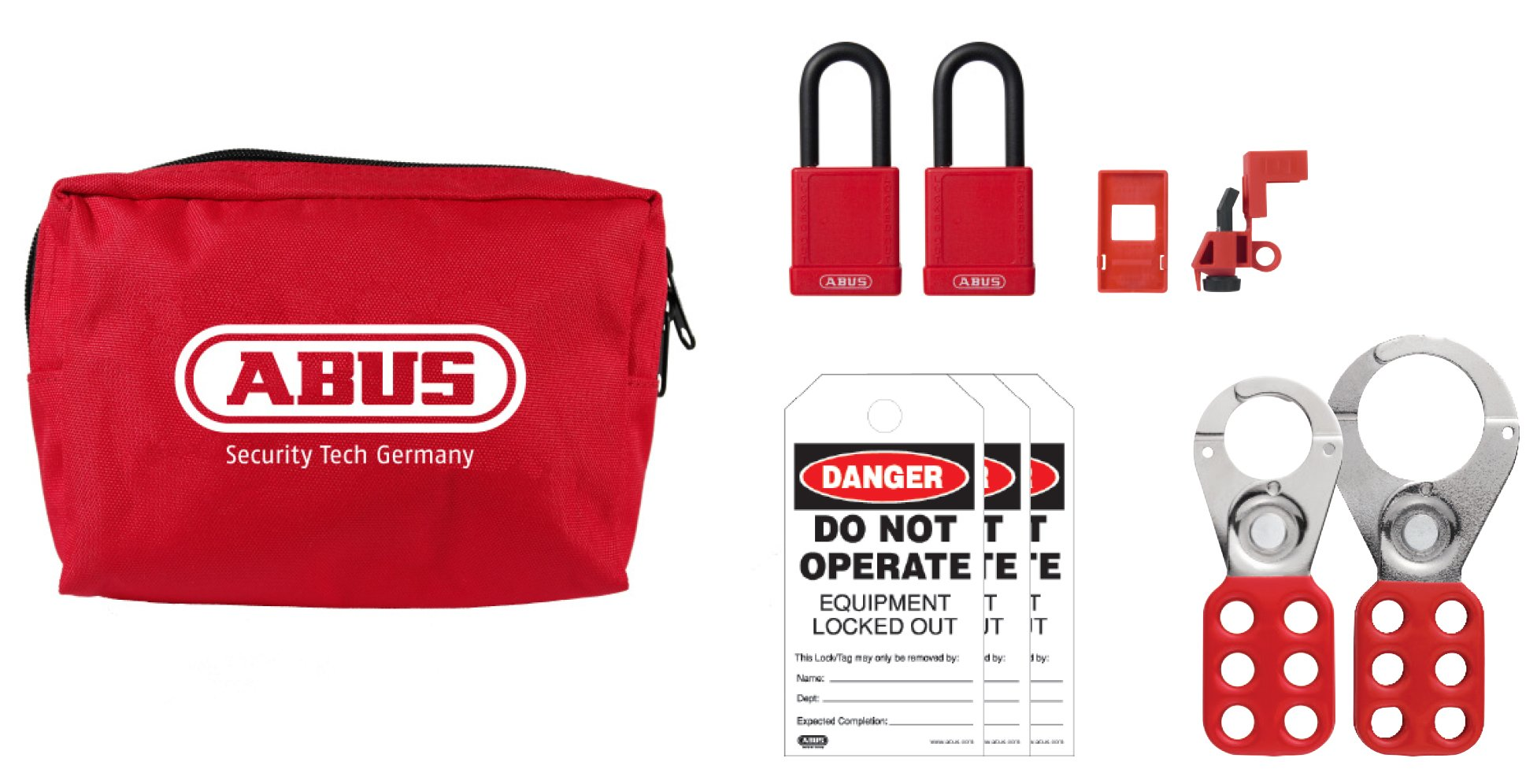 ABUS K900 Safety Lockout Tagout Personal Safety Pouch Kit, Small