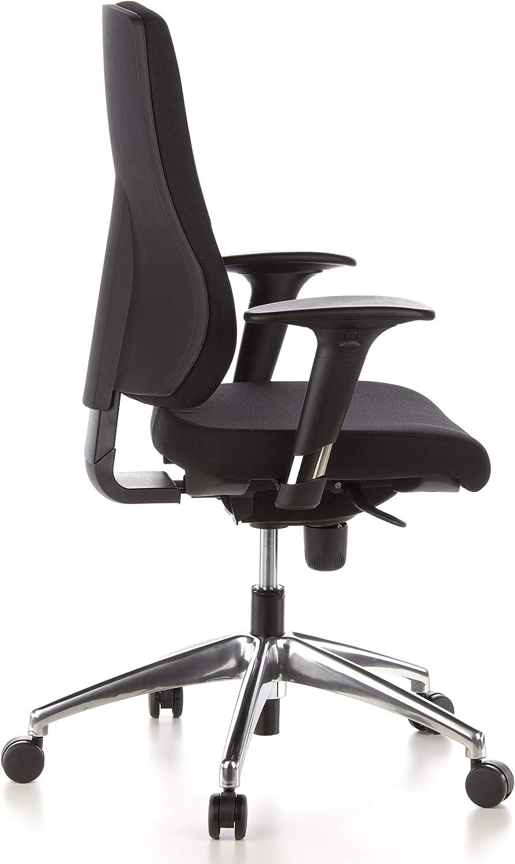 confortable tissu extr/êmement r/ésistant ergonomique hjh OFFICE 608000 chaise de bureau pi/ètement alu pivotant et inclinable avec accoudoirs fauteuil PRO-TEC 200 noir pour lusage intensif
