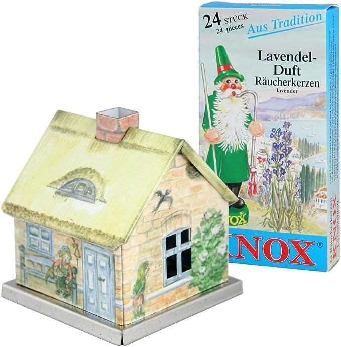 Knox Räucherhaus Aus Metall Räucherkerzen Lavendel Frühlingshaus 24 Räucherkerzen Der Größe M Küche Haushalt