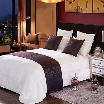 Ropa de cama cama Cama toalla gaestgiveriet hotel cama cubierta de colchon mesa bandera BANDERA: Amazon.es: Hogar