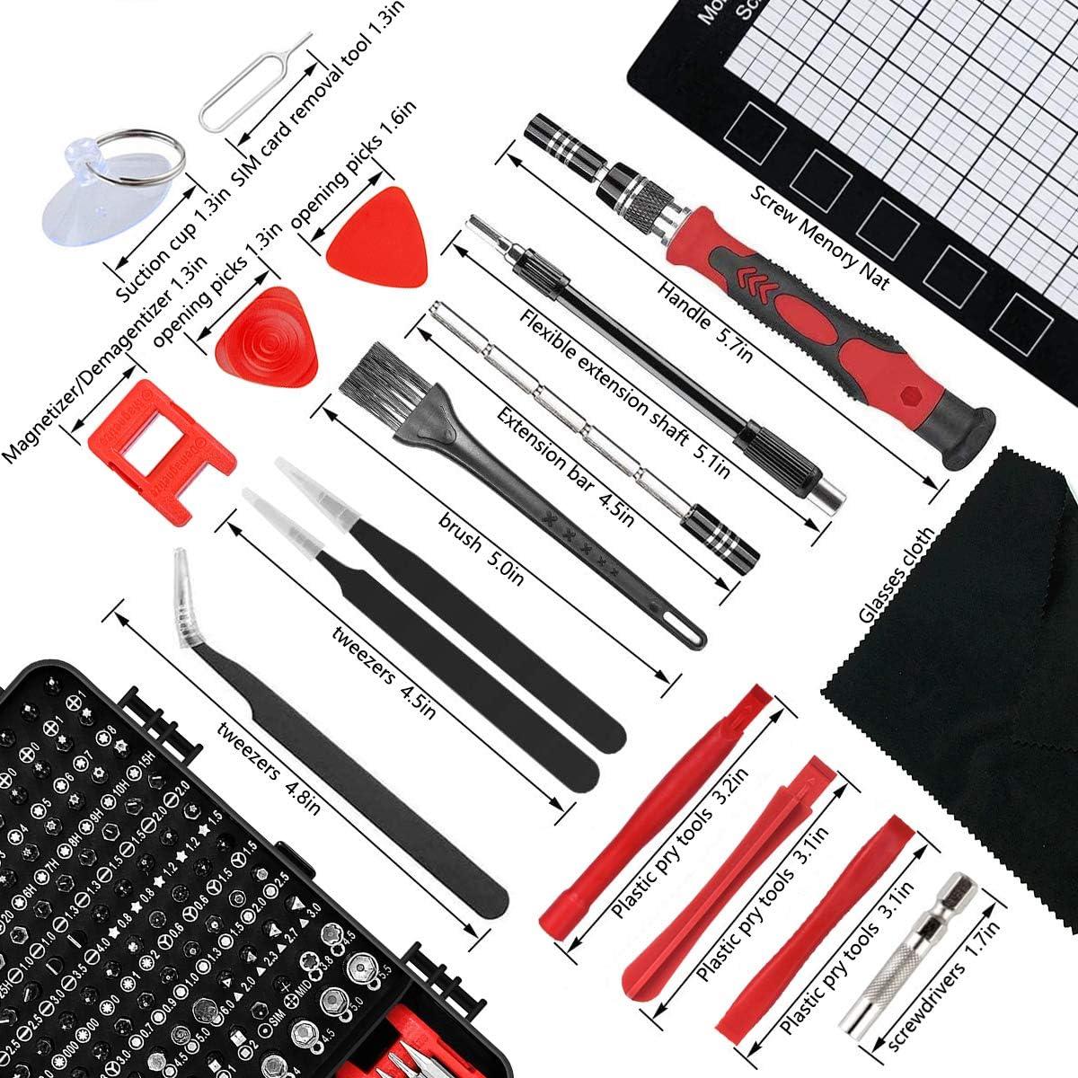 Precision Screwdriver Set 129IN1 105 Pcs Bit Bingolar Repair Tool Multifunctional Tool DIY iPhone PC Glasses Camera Repair Gray