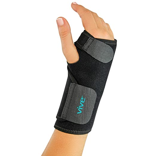 Wrist Brace by VIVE - Universal Support for Carpal Tunnel, Tendonitis, Wrist Pain & Sports Injuries - Removable Splint - One Size Fits Most (Right Wrist)