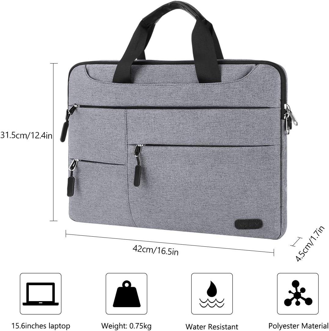 NUBILY Laptoptasche Herren Aktentasche Schultertasche 15.6 Zoll Business Notebooktasche wasserdichte Gro/ß Umh/ängetasche f/ür Schule//Reisen//Frauen//M/änner Blau