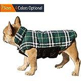 ThinkPet British Style Reversible Plaid Winter Coat Waterproof Dog Jacket