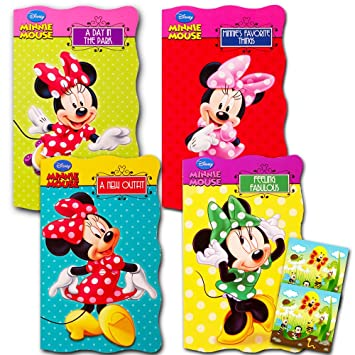 Disney Minnie Mouse U0026quot;My First Booksu0026quot; (Set Of 4 Shaped Board Books