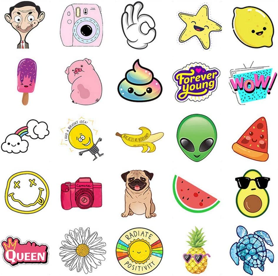 D Sticker Laptop Waterproof Stickers Water Bottle Skateboard Motorcycle Phone Bicycle Luggage Guitar Bike Vinyl Stickers Decal 106 PCS Small fresh Stickers