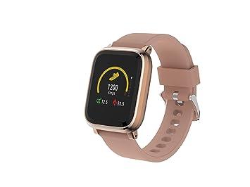 Denver Electronics SW-160 Rose– Reloj Inteligente, Bluetooth, Sensor de frecuencia cardíaca, Muestra la identificación de Llamadas y la notificación ...