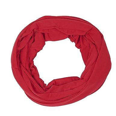 2b94c0004e76 Fête des Mères doux rond Femme Echarpe Foulard cache-col a la mode couleur  pure